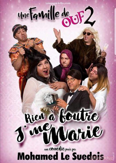 affiche théâtre comédie de Nice, Mohamed Le Suédois Nouveau Spectacle