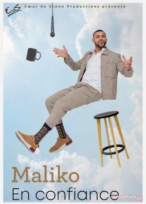 Affiche spectacle la nouvelle comédie Maliko Bonito dans En confiance