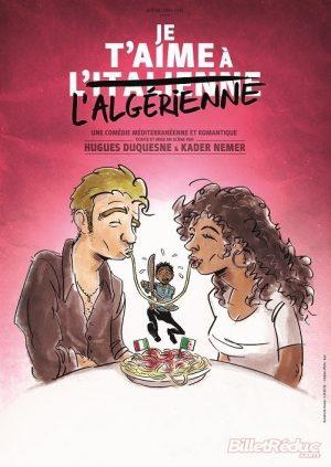 Affiche spectacle la nouvelle comédie nice je t'aime à l'italienne
